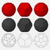 Set of three-dimensional geometric figures. Royalty Free Stock Image