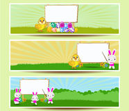 Set of three Easter banners Stock Images