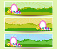 Set of three Easter banners Royalty Free Stock Photo