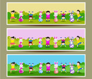 Set of three Easter banners Royalty Free Stock Images