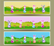 Set of three Easter banners Stock Photography