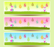 Set of three Easter banners Royalty Free Stock Photography