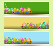 Set of three Easter banners Royalty Free Stock Photos
