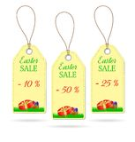 Set of three Easter price stickers. On white background royalty free illustration