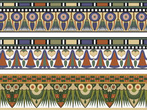 Set of three Egyptian border royalty free illustration