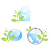 Set of three environmental icons Stock Image