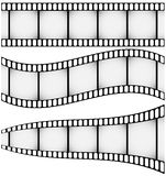 Set of Three Filmstrips Royalty Free Stock Photos