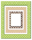 Set of geometrically decorated frames Stock Photography