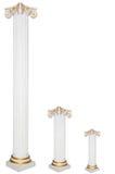 Set of three greek columns, diffirent sizes Royalty Free Stock Photography