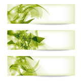 Set three green abstract banner Royalty Free Stock Photography