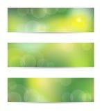 Green banner set Royalty Free Stock Photo