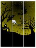 Set of three halloween banner. Illustration royalty free illustration