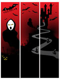 Set of three halloween banner Stock Photography