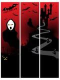 Set of three halloween banner. Illustration Vector Illustration