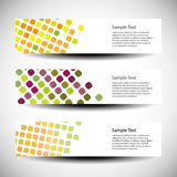 Set of three header designs Royalty Free Stock Image