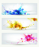Set of three headers Royalty Free Stock Images