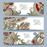 Set of three horizontal banners with decorative Royalty Free Stock Image