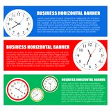 Set of three horizontal business banners templates. Vector Royalty Free Stock Photo