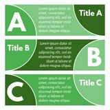 Set of three horizontal colorful options banners. Step by step infographic design template. Vector illustration Stock Images