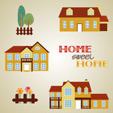 Set of three houses Royalty Free Stock Photography