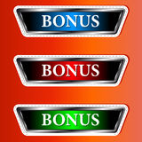 Set from three icons a bonus Stock Images