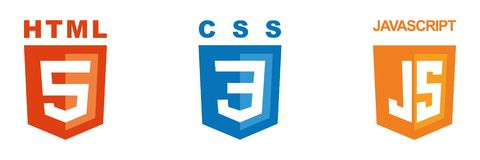 Set of three icons - HTML, CSS, JavaScript