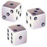 Set of dice. Set of three kind of dice Stock Photo