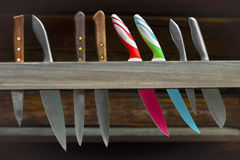 Set of three kind of knives Royalty Free Stock Image