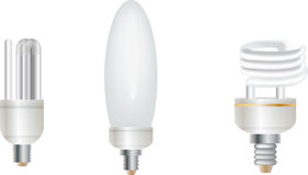 Set of three lamps on white Royalty Free Stock Image