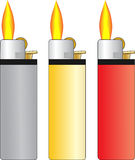 Set of three lighter Stock Images