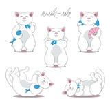 Set of three maneki neko cats Stock Photography