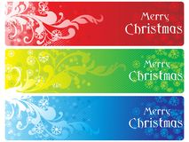 Set of three merry xmas banner Stock Image