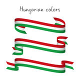 Set of three modern colored vector ribbon with the Hungarian tri Royalty Free Stock Photo