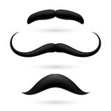 A set of three moustache Royalty Free Stock Images