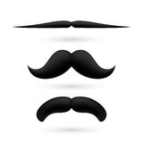 A set of three moustache Stock Images