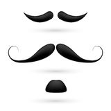A set of three moustache Stock Image