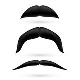 A set of three moustache Royalty Free Stock Photography