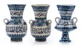 Set of three old vintage vases Stock Images