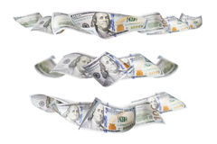 Set of Three One Hundred Dollar Bill Horizontal Graphic Photos Stock Image