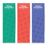 Set Of Three Oriental Style Vertical Banners. Stock Photos