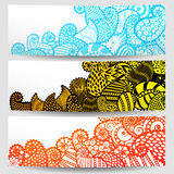 Set of three ornamental banners Stock Image