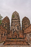 Set of three pagodas in sukhothai vertical Stock Images