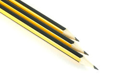 Set of three pencils Stock Photography