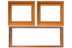 Set of three photo frames Royalty Free Stock Photos