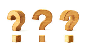 Set of three question marks isolated Stock Images