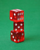 Set of three red dice Royalty Free Stock Photos