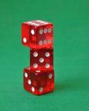 Set of three red dice Royalty Free Stock Photos