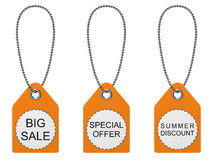 Set of three sale tags. Stock Photography