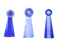 Set of three satin ribbons Royalty Free Stock Photo
