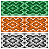 Set of three seamless rhombic patterns Royalty Free Stock Photos